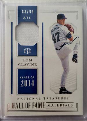 Tom Glavine hall of fame jersey relic card 63/99 for Sale in Chicago, IL