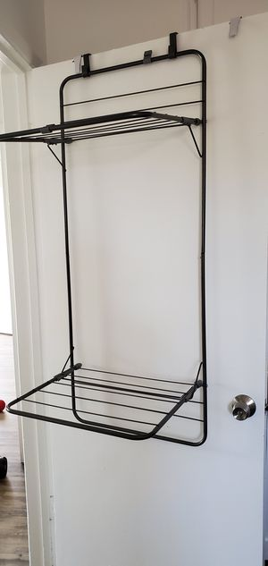 Over Door Foldable Laundry Drying Rack for Sale in Lincoln Acres, CA
