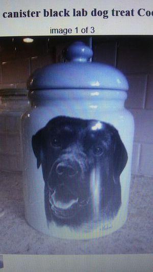 Black Labrador Lab dog Treat. Jar canister for Sale in MD, US