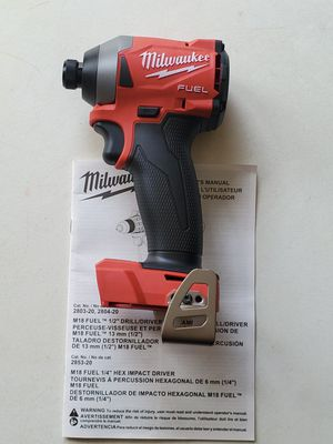 "MILWAUKEE M18 FUEL BRUSHLESS 3-SPEED 1/4"" HEX IMPACT DRIVER 3RD GENERATION (TOOL ONLY) for Sale in Los Angeles, CA"