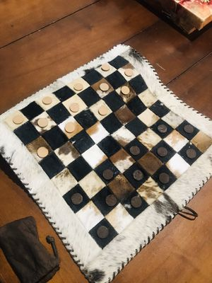 Leather Checkers set for Sale in Phoenix, AZ