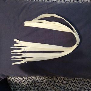 Bundle Of Zippers, White for Sale in Farmville, VA