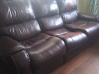 Electric recliner leather couch for Sale in Battle Ground,  WA