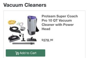 Pro-Team backpack style vacuum cleaner for Sale in Sacramento, CA