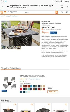 Hampton bay fire pit for Sale in Bedford Heights, OH