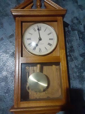 Wooden quartz wall clock antique for Sale in Phoenix, AZ