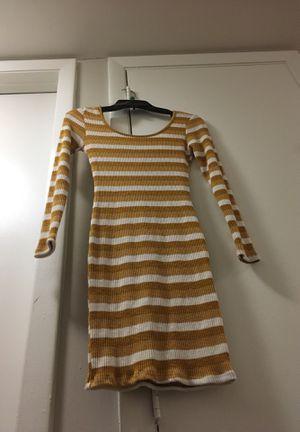 Sitcom Stripe dress- Mustard yellow-Medium for Sale in Miramar, FL