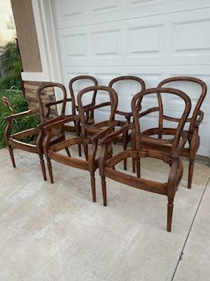 """""""FLEXSTEEL FURNITURE"""" SOLID WOOD OCCASIONAL ARM CHAIRS FRAME ONLY (6 AVAILABLE $45 EA) for Sale in Corona, CA"""