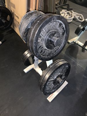 Weights for weight bench and weight stand for Sale in Cypress, TX