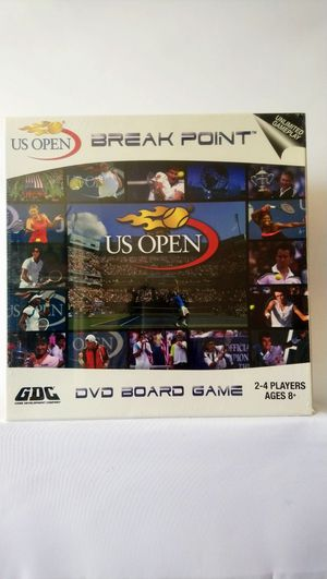 NEW Break Point US Open Tennis Grand Slam DVD Board Game GDC Ages 8+. Condition is New. for Sale in Washington, DC