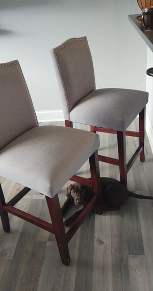 Stool chairs light grey for Sale in Philadelphia, PA