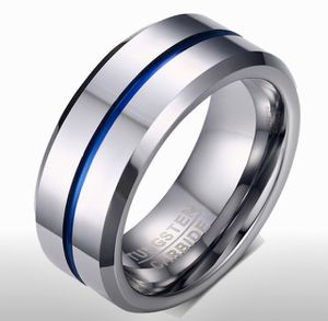 Blue Line 8MM Tungsten Carbide Ring. Size 10. NEW. $25 for Sale in San Diego, CA