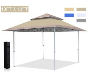Brand new !13x13 Canopy Tent Instant Shelter Pop Up Canopy 169 sq.ft Outdoor Sun Shade, Khaki for Sale in Renton, WA