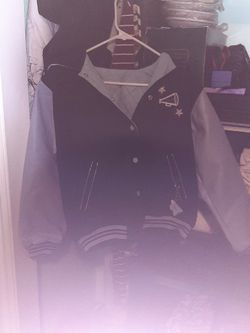 Varsity All American Legue Little Girls Jacket Can Be Worn Inside Out As Well Will Fit Even Older As Well From Frank And Myers for Sale in West Valley City,  UT