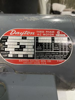 Dayton Three Phase AC Motor for Sale in St. Clair Shores, MI
