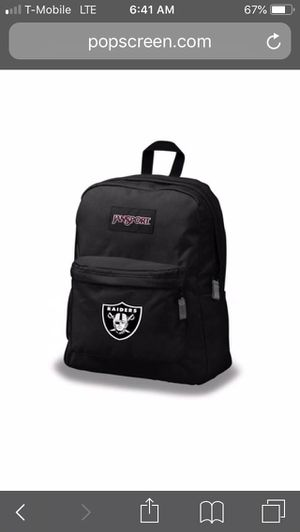 Jansport Oakland Raiders backpack for Sale in San Leandro, CA