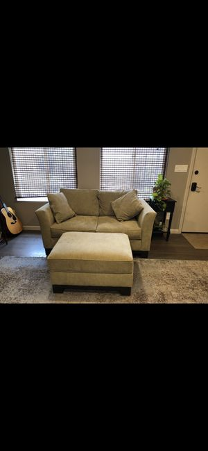 Couch and ottoman for Sale in San Mateo, CA