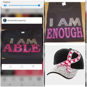 Pink for cancer I am enough shirt for Sale in Cutler Bay, FL