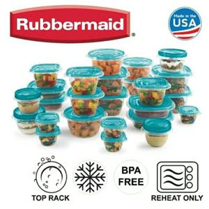 Rubbermaid 50 piece set Plastic Food Storage Containers pot with lids for Sale in Princeton, FL