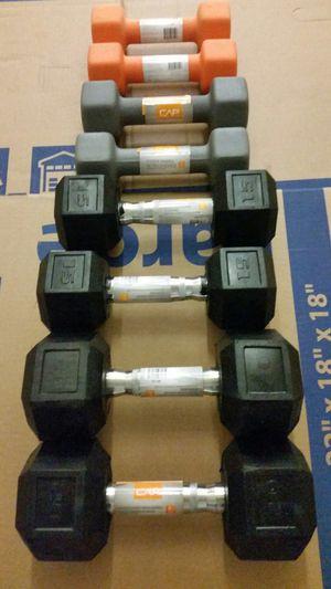 $260 8lb 10lb 15lb 20lb dumbbell starter set. for Sale in Portland, OR