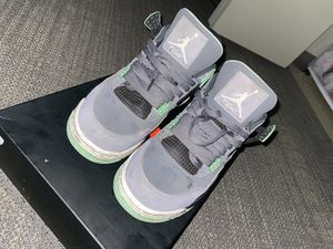 Air Jordan retro 4s green glow 4s Size 8.5Mens Foamposites Gold metallic Size 9 ($200 for Both) for Sale in Seattle, WA