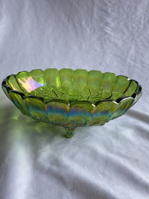 Rare green vintage carnival glass bowl for Sale in Lynnwood, WA
