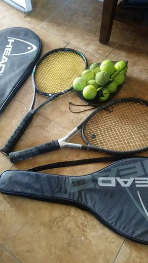 Titanium tennis rackets and balls for Sale in Moreno Valley, CA