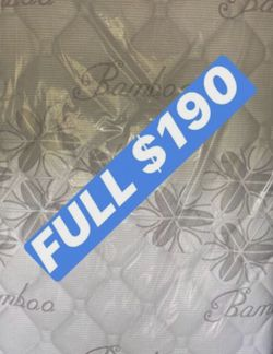 """BRAND NEW """"LUXURY EURO PILLOW TOP BAMBOO"""" MATTRESSES 💯 COLCHONES NUEVOS PILLOW TOP 💯( LIMITED TIME ONLY) 5 year factory warranty ! 💥12 inches t for Sale in Downey,  CA"""