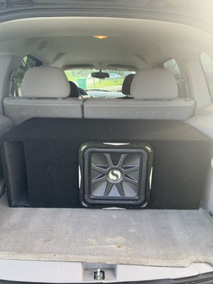 """Kicker L7 12"""" subwoofer in a tuned box for Sale in Port St. Lucie, FL"""