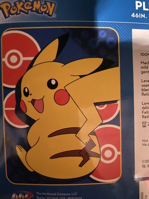 Pokemon blanket for Sale in San Diego, CA