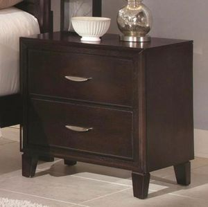 New in Box Never Used Fine Furniture Coventry Transitional Two Drawer Night Stand. Antique Black. Stock picture is Espresso. Two available. $129 Each. for Sale in Chesapeake, VA