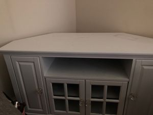White corner style tv stand/entertainment center for Sale in Washington, DC