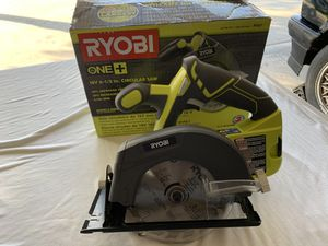 RYOBI 18-Volt ONE+ Cordless 6-1/2 in. Circular Saw (Tool Only) for Sale in Fontana, CA
