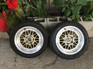 2 MSR 15x7 5x114.3 with tires for Sale in Los Angeles, CA
