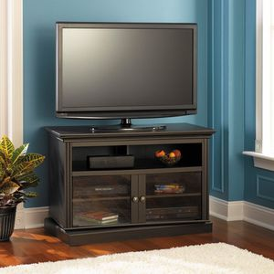 SWIVEL BASE Tv Stand - aged Tobacco/espresso for Sale in Keller, TX