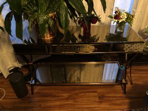 Rose gold glass TV stand for Sale in Lansing, MI