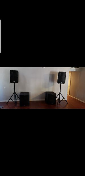 6400 watt DJ speaker setup for Sale in West Sacramento, CA