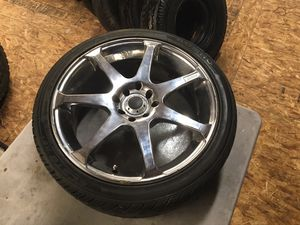 4 Tires 205/40R17 With Chrome Rim for Sale in Salt Lake City, UT