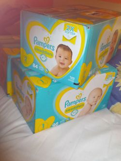 Pampers Swaddlers : 2 (1s - 96 ct), 1 (2s - 86 ct) for Sale in Hayward,  CA
