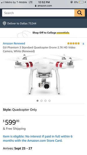 Phantom 3 Standard Drone for Sale in Dallas, TX