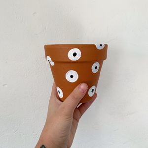 "Polka dot Terracotta Pot 4"" for Sale in San Diego, CA"