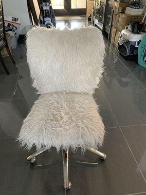 Pottery barn teen armless faux fur chair for Sale in Hialeah, FL