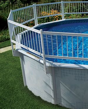Resin above ground pool fence for Sale in Grove City, OH