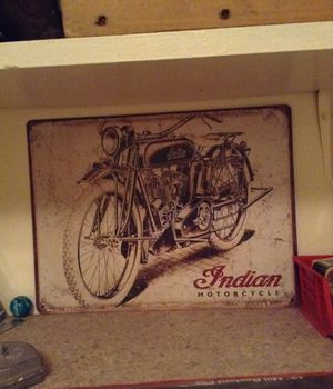 Indian motorcycle sign for Sale in Vancouver, WA