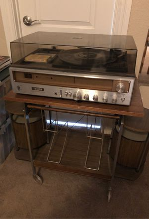 Zenith cassette and turntable , pair of speakers, and cart for Sale in Phoenix, AZ