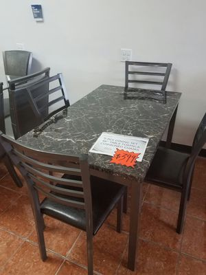 [F2368] 5-PCS DINING SET FORMICA TABLE + CHAIRS [ONLY $50 DOWN AND 90 DAYS TO PAY SAME AS CASH] for Sale in Irving, TX