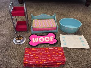 American Girl Doll Dog Bed, Bath, & Accessories for Sale in Las Vegas, NV