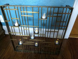 Home Decor Brass Wall Mount Candle Holder with Voltives for Sale in Chicago, IL
