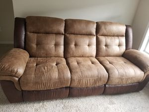 couch with recliners for Sale in La Vergne, TN