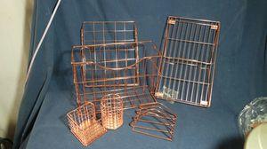 Copper kitchen set dish dryer sponge holder for Sale in US